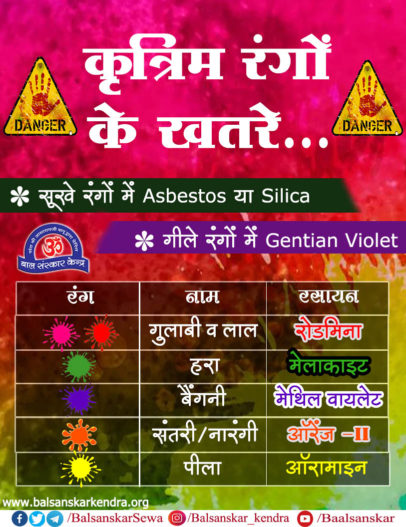 Dangerous Side Effects of Chemical Holi Colours