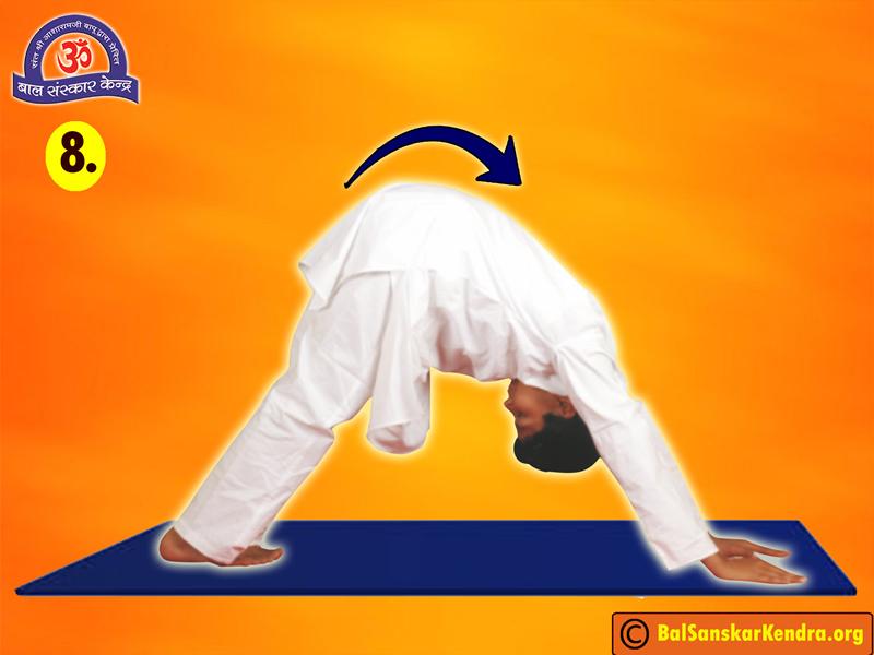 Surya Namaskar Step 8
